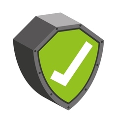 security shield with check symbol isolated icon vector image