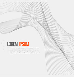 Tech background with abstract wave line vector