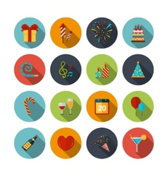 Celebration Icons Set vector image