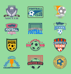european football soccer lable embleme vector image