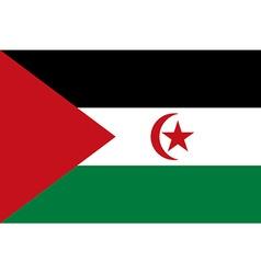 Flag of Sahrawi Arab Democratic Republic vector image