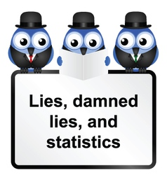 SIGN STATISTICS vector image