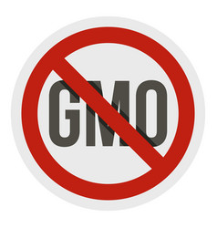 stop gmo red prohibition sign icon isolated vector image vector image