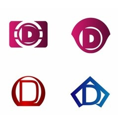 letter D logo template Abstract icon vector image vector image