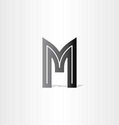 letter m black symbol design vector image