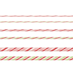 Candy cane borders3 vector