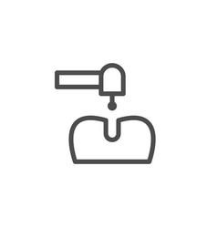 dental treatment line icon vector image vector image
