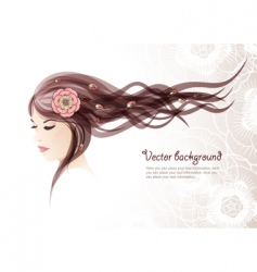 girl with colors in hair vector image vector image