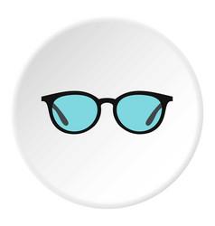 glasses icon circle vector image