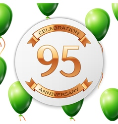 Golden number ninety five years anniversary vector image vector image