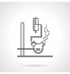 Laboratory equipment flat line icon vector image vector image