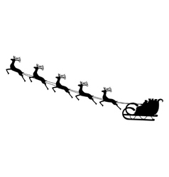 Santa Claus rides in a sleigh in harness on the vector image vector image