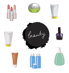 set of body care products vector image vector image