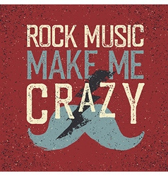 Vintage Rock Music label with lightning and vector image