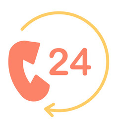 24 hours service support icon 48x48 pictogram vector image