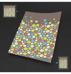 A4 business blank Abstract background with color vector image