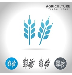 Agriculture blue icon vector