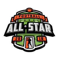 all stars of football logo emblem vector image