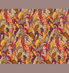 Autumn plants pattern vector