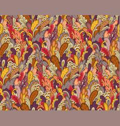 Autumn plants pattern vector