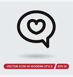 bobble icon in modern style for web site and vector image