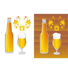 bottled beer vector image