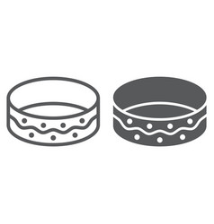 bracelet line and glyph icon jewellery and vector image