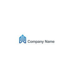 building construction line company logo vector image