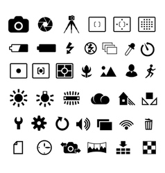 Camera settings icon vector