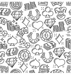 casino roulette gambling games seamless pattern vector image