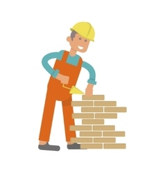 Character construction worker vector