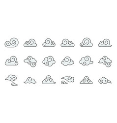 chinese cloud icon raw material for use filled vector image