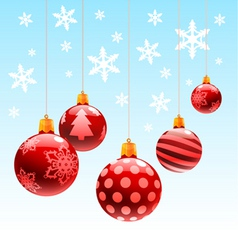 christmas ornament ball vector image