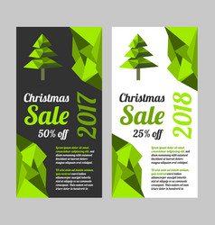 Christmas sale banner set vector