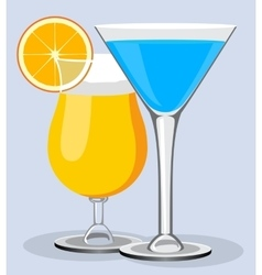 cocktails Cocktail summer design vector image
