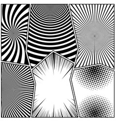 Comic book page monochrome background vector