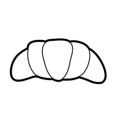 croissant or scone pastry icon image vector image