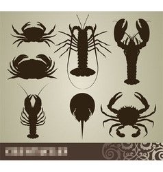 Crustacean set vector