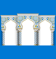 Eastern arch of the mosaic carved architecture vector