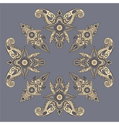 eastern style paisley pattern vector image