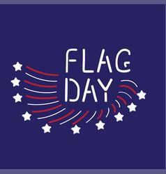 Flag day vector
