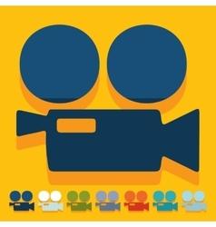 Flat design movie camera vector