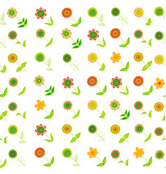 floral seamless background with oblique rows of vector image