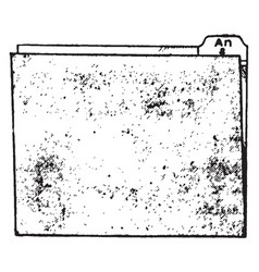 Folder vintage vector