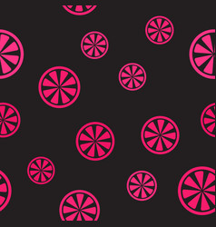 grapefruit pattern seamless background vector image