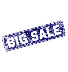 grunge big sale framed rounded rectangle stamp vector image