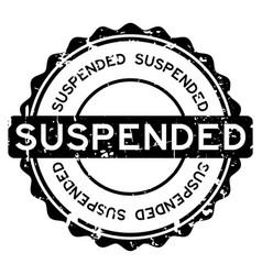 Grunge black suspended round rubber seal stamp on vector
