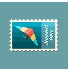 Hang Glider stamp Summer Vacation vector