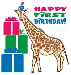 Happy First Birthday vector