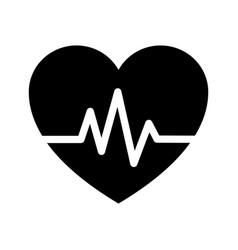 Heart beat icon vector